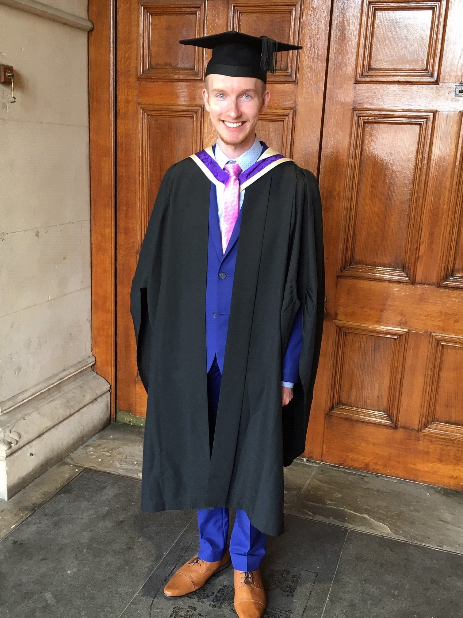 Daniel Wilkins Graduating at the University of Winchester