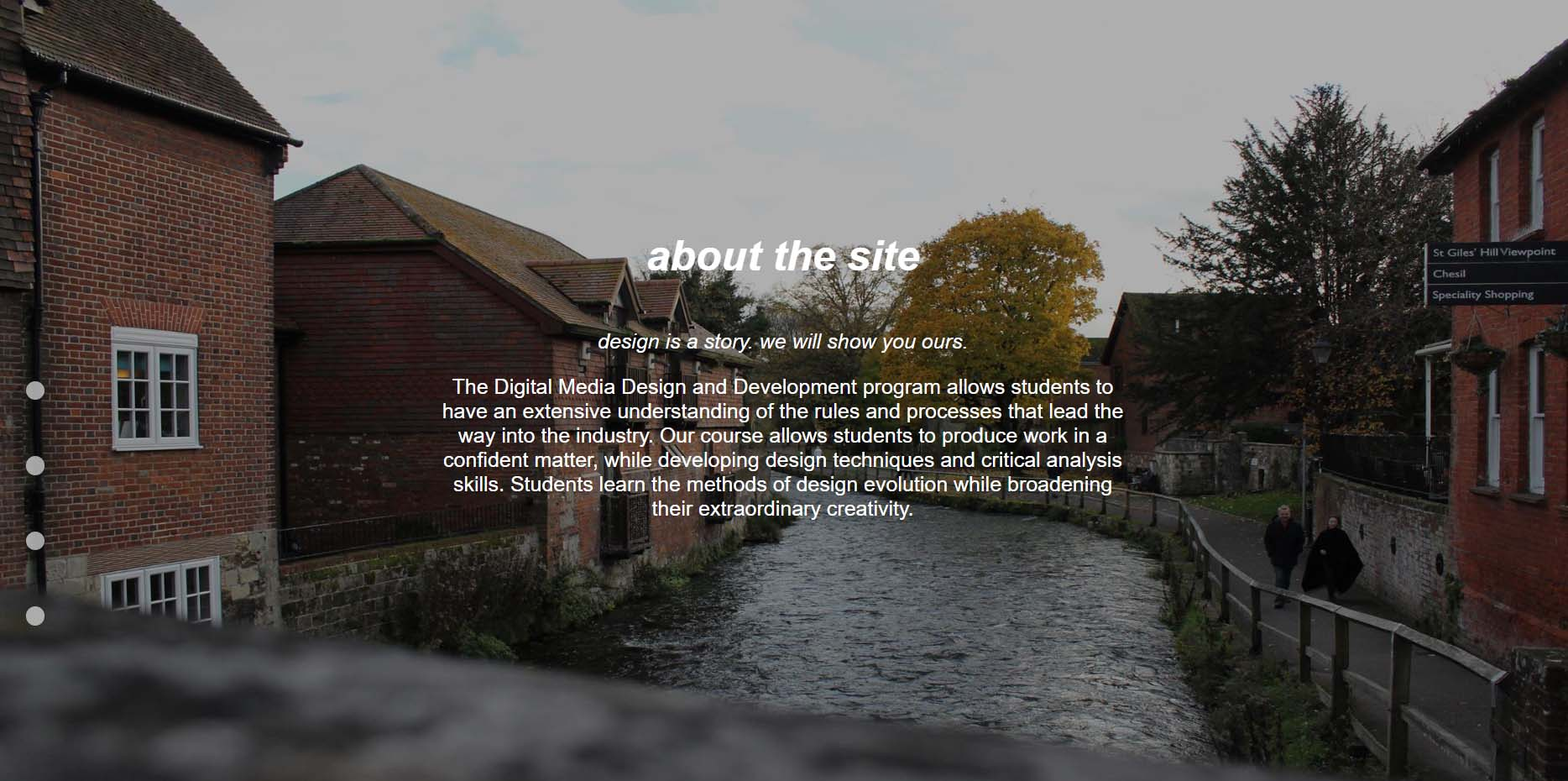 About the Website Section of the Website