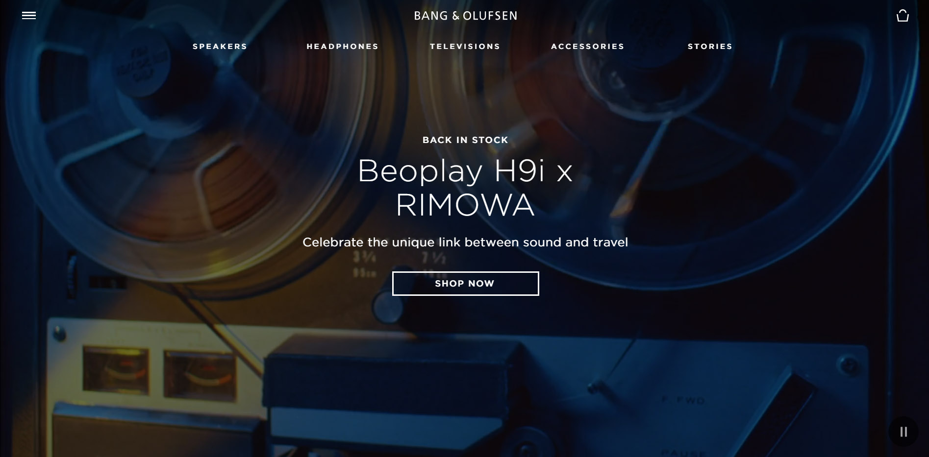 A Section of the 'beoplay' Website