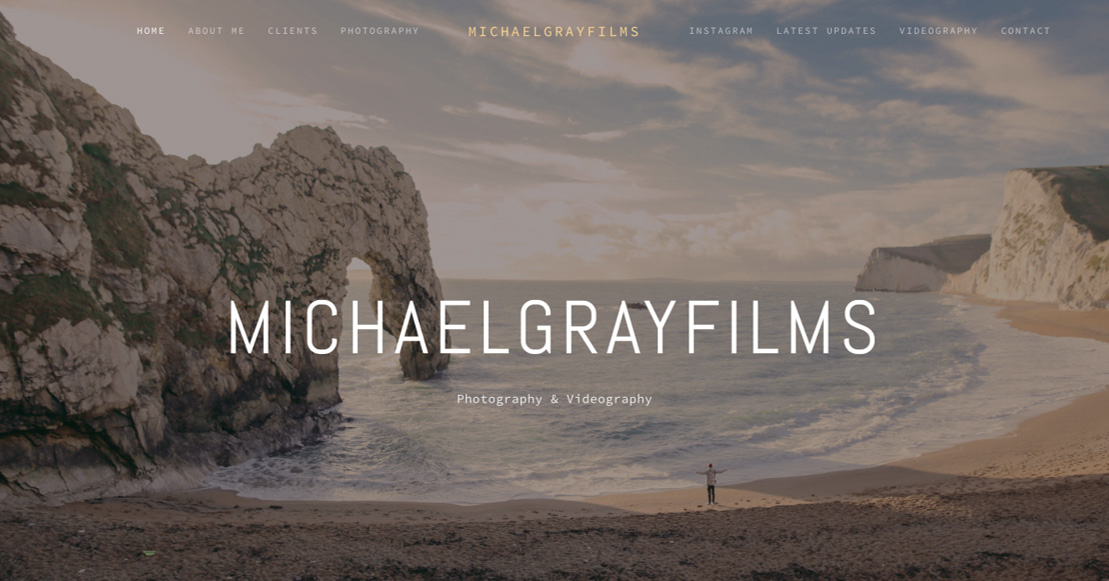 A Section of the 'MichaelGrayFilms' Website