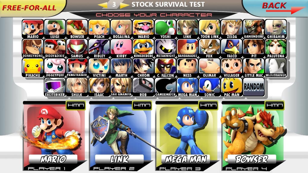 'Super Smash Bros Brawl' Character Select Menu Inspiration