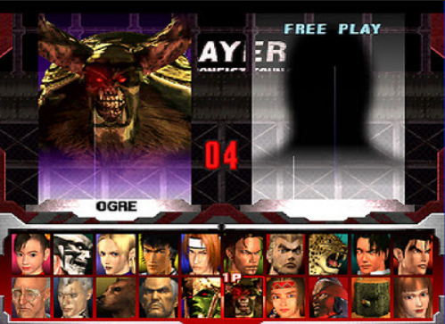'Tekken 3' Character Select Menu Inspiration