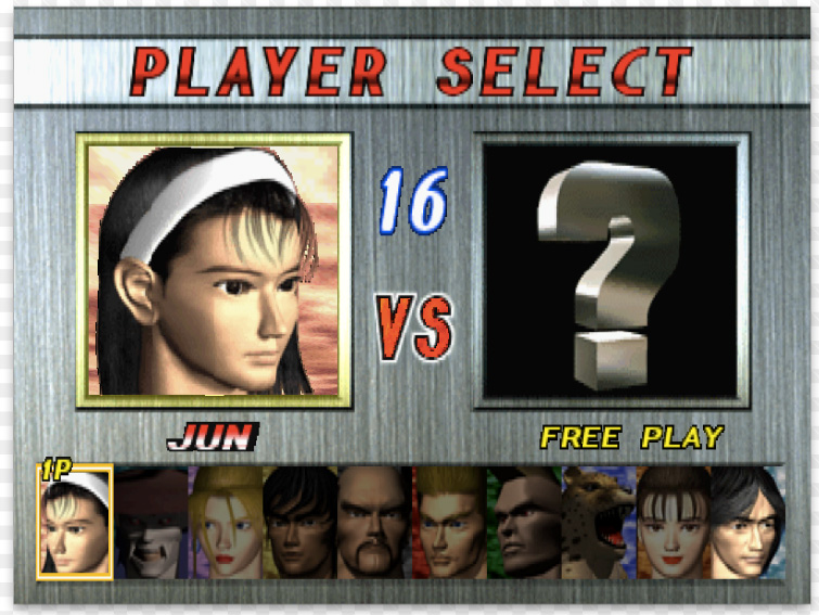 'Tekken 2' Character Select Menu Inspiration