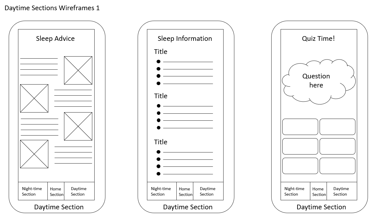 Daytime Sections Wireframes 1