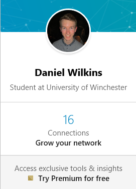 Total Connections on 'LinkedIn'