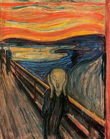 'The Scream' by Edvard Munch (1893 - 1910)