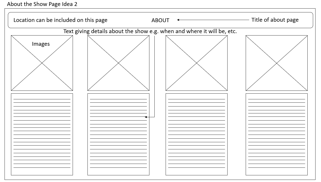 About Page Desktop Wireframe Idea 2